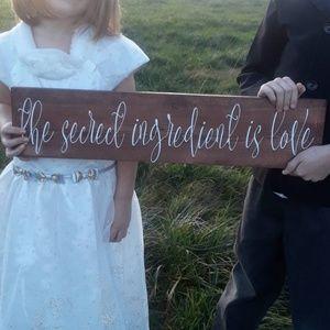 Wood Sign Love Secret Ingredient House Decor gift